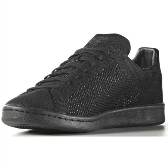 a1d8c7db8332 Adidas Originals Stan Smith Primeknit Black Shoes